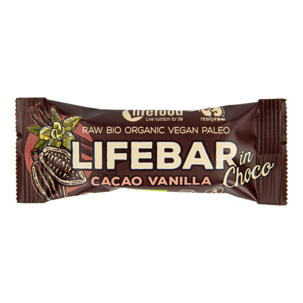 Country Life Tyčinka Lifebar kakaové boby s vanilkou 40 g BIO LIFEFOOD 40g