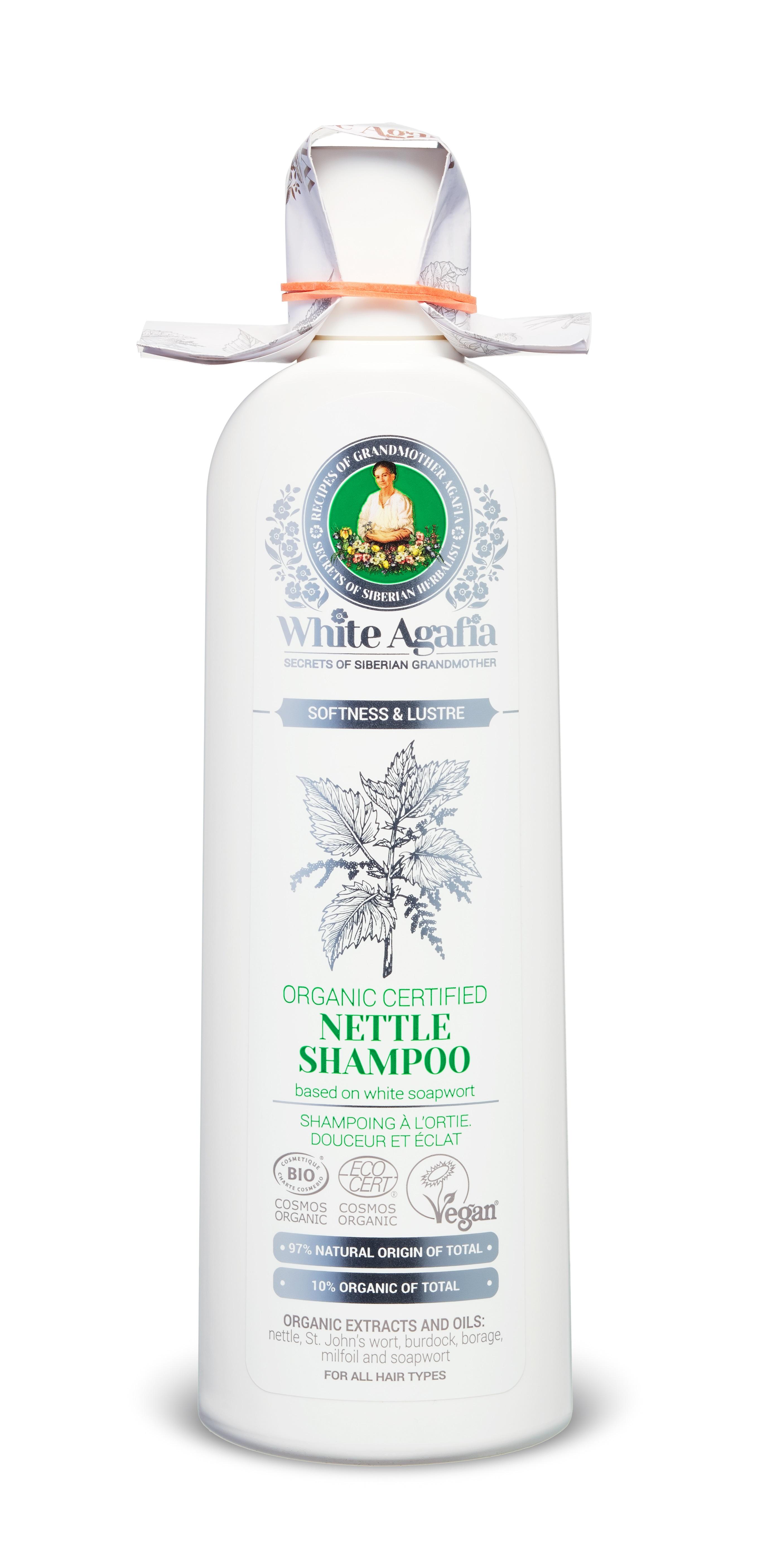 Babička Agafa White Agafia - Kopřivový šampon 280 ml