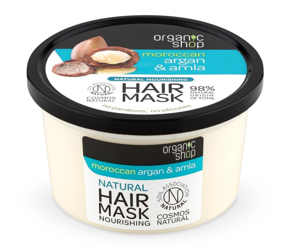 Organic Shop Organic Shop - Marocký arganový olej a amla - Výživná maska na vlasy 250 ml 250 ml