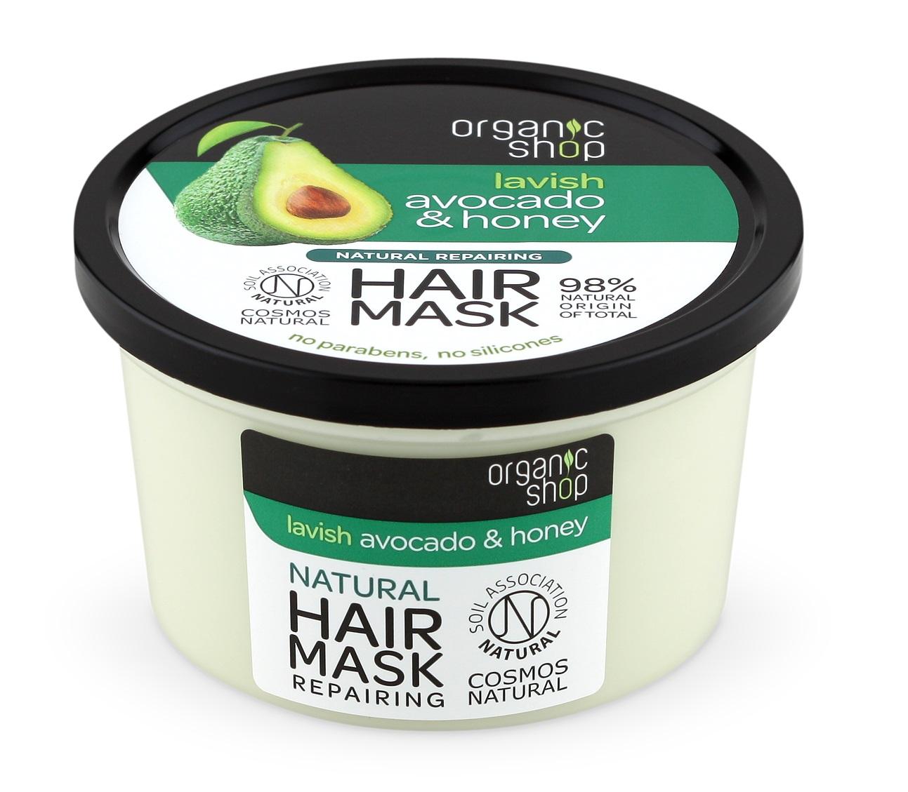 Organic Shop Organic Shop - Avokádo & Med - Maska na vlasy, 250 ml 250 ml