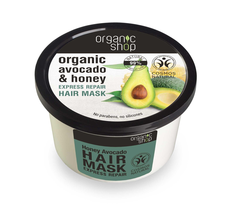 Organic Shop Organic Shop - Med & Avokádo - Maska na vlasy 250 ml 250 ml