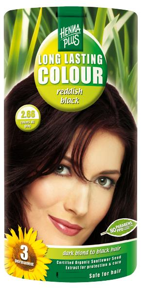 HennaPlus Hennaplus Dlouhotrvající barva Červeně Černá 2.66 40 ml + 40 ml + 20 ml