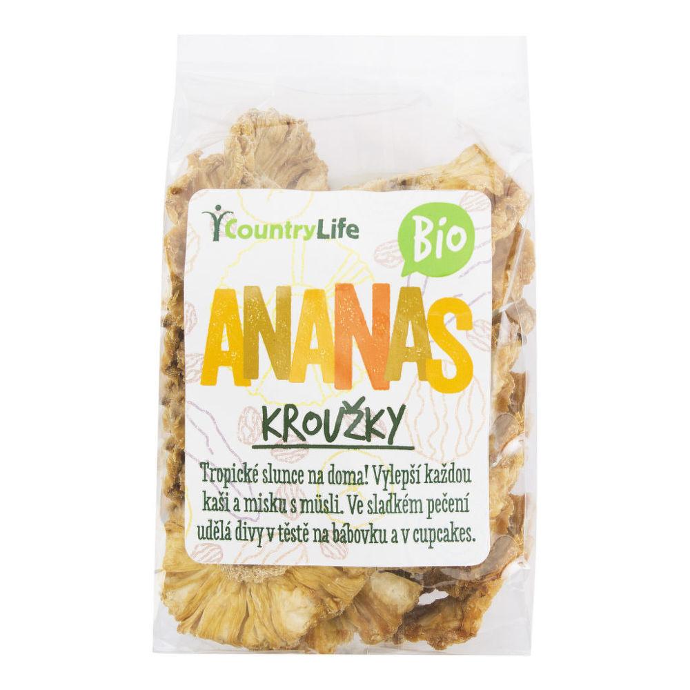 Country Life Ananas kroužky sušené 100 g BIO 100 g