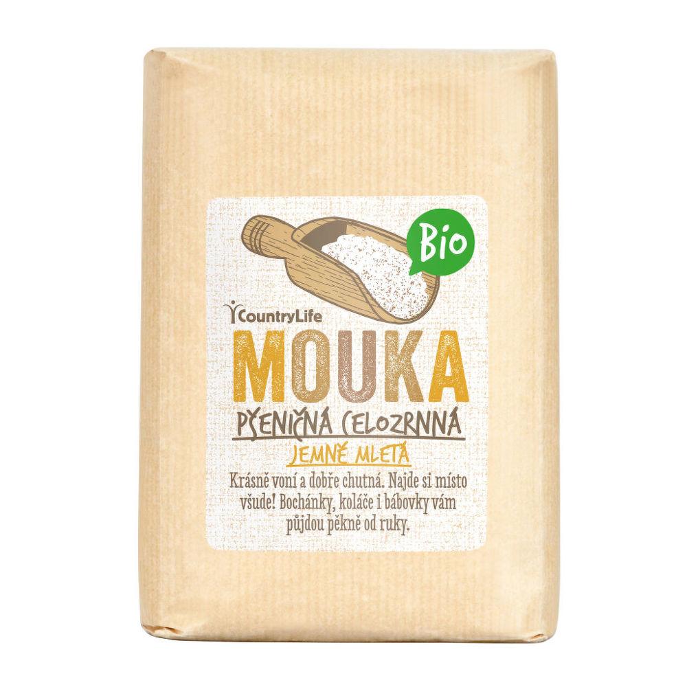 Country Life Mouka pšeničná celozrnná jemně mletá 1 kg BIO COUNTRY LIFE 1 kg