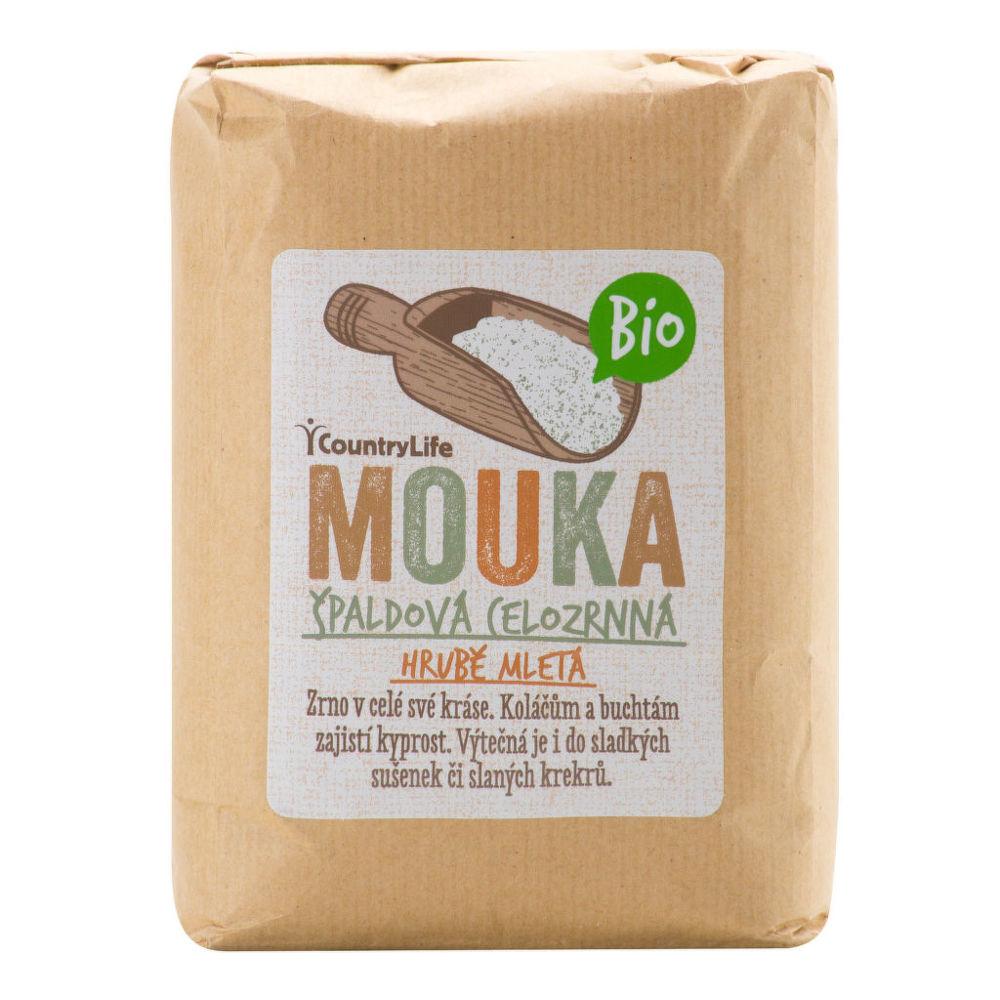 Country Life Mouka špaldová celozrnná hrubě mletá 1 kg BIO COUNTRY LIFE 1 kg