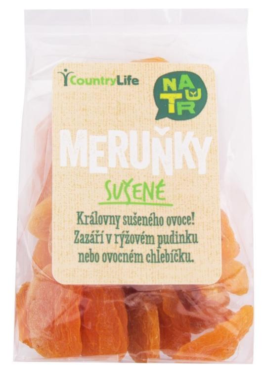 Country Life Meruňky sušené nesířené 100g 100 g