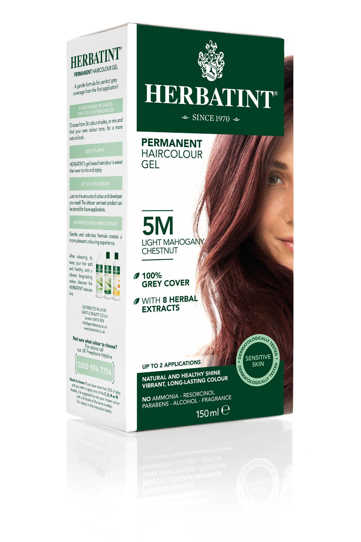 HERBATINT permanentní barva na vlasy světle mahagonový kaštan 5M