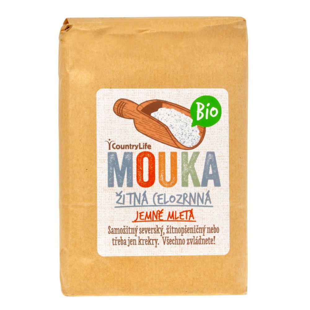 Country Life Mouka žitná celozrnná jemně mletá 1 kg BIO 1 kg