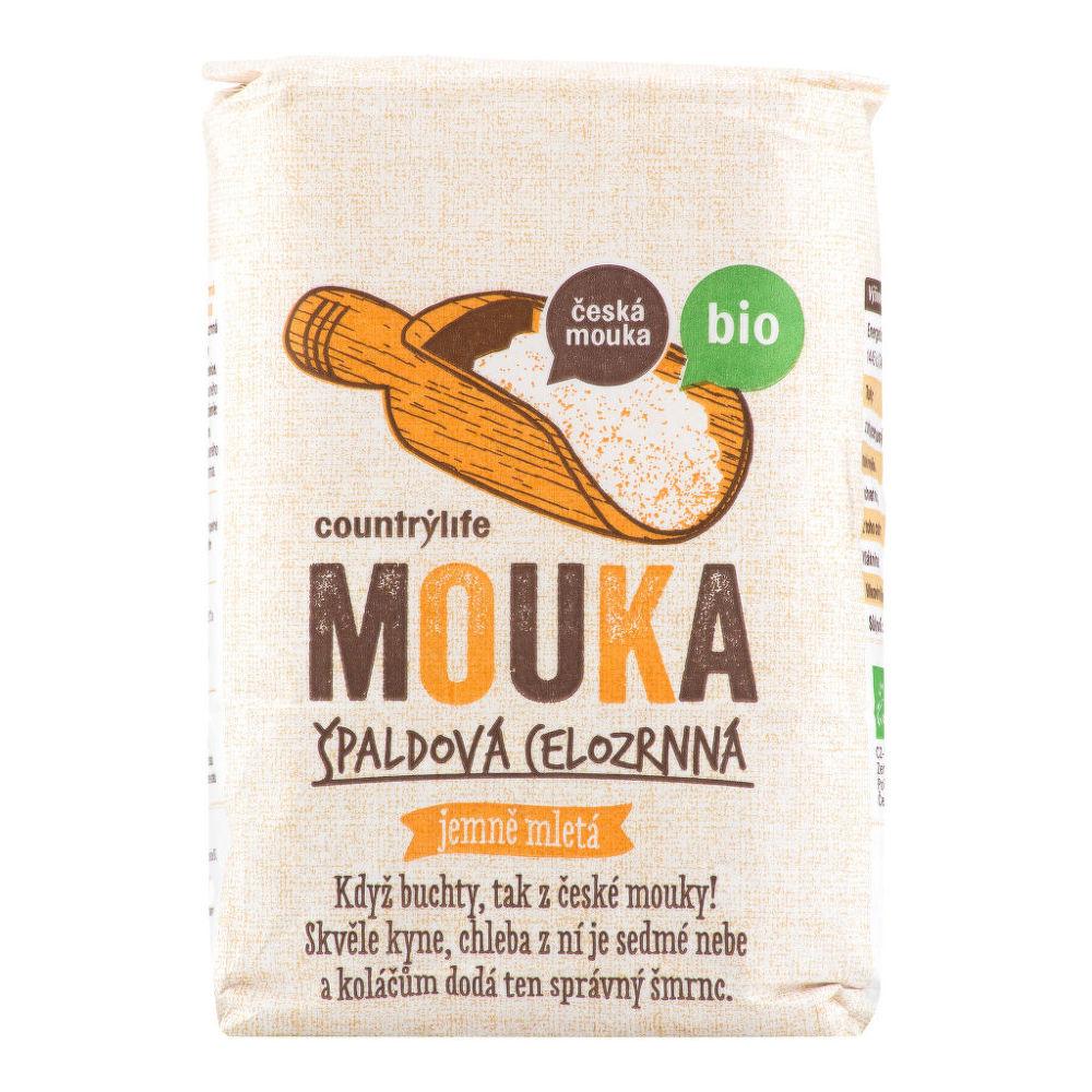 Country Life Mouka špaldová celozrnná jemně mletá česká 1 kg BIO COUNTRY LIFE 1 kg