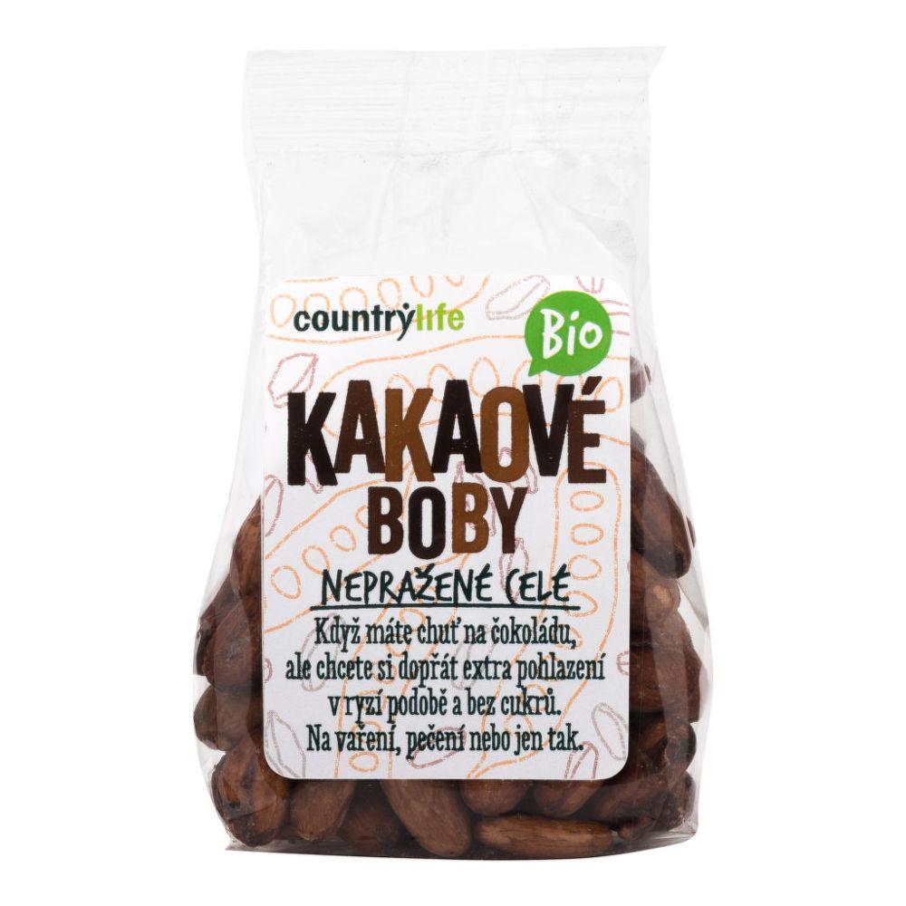 Country Life Kakaové boby nepražené celé 100 g BIO COUNTRY LIFE 100 g