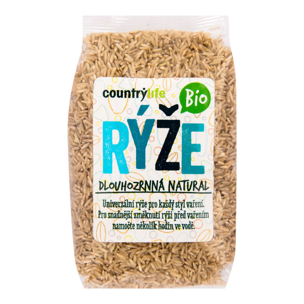 Country Life Rýže dlouhozrnná natural 500 g BIO COUNTRY LIFE 500 g