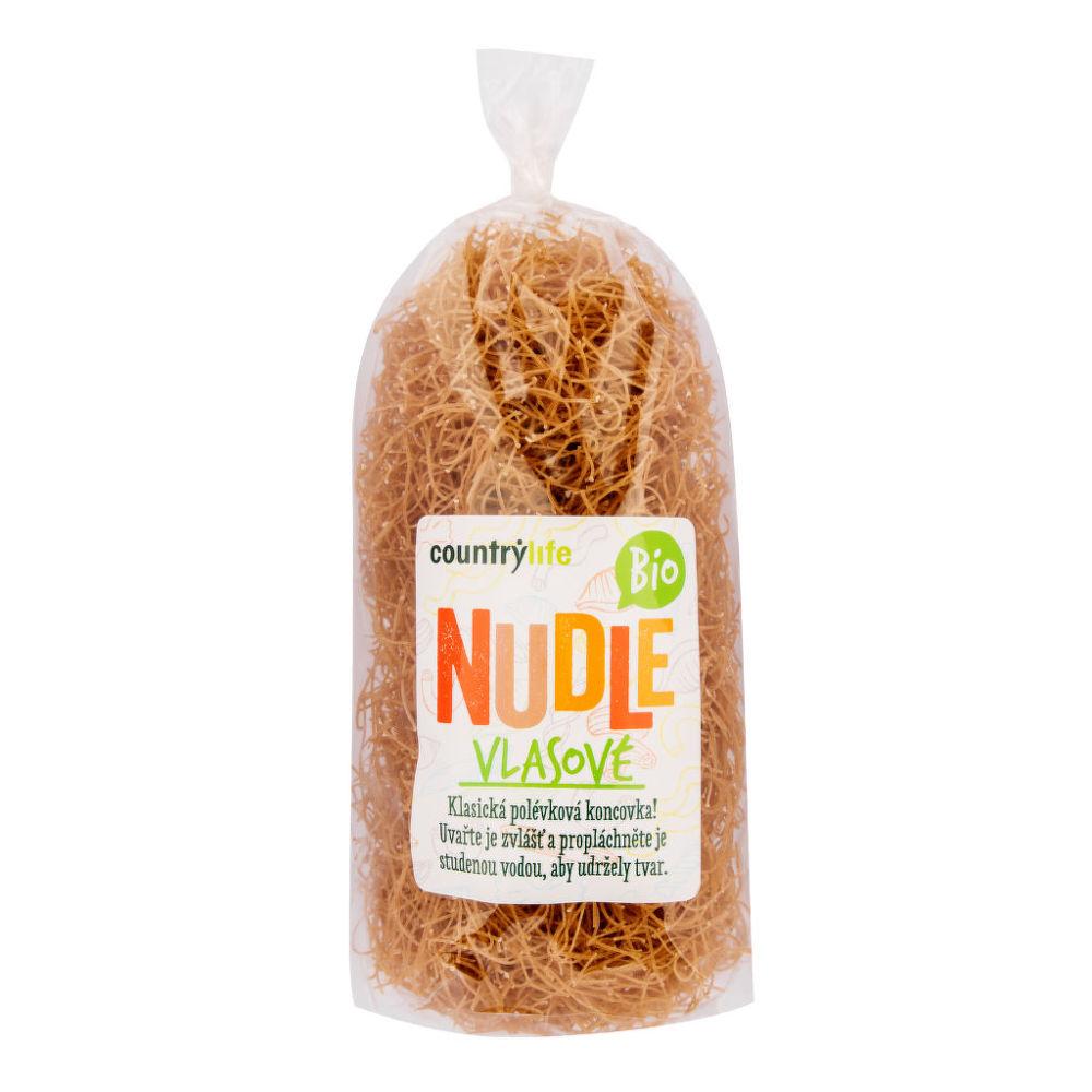 Country Life Těstoviny nudle pšeničné vlasové 200 g BIO COUNTRY LIFE 200 g