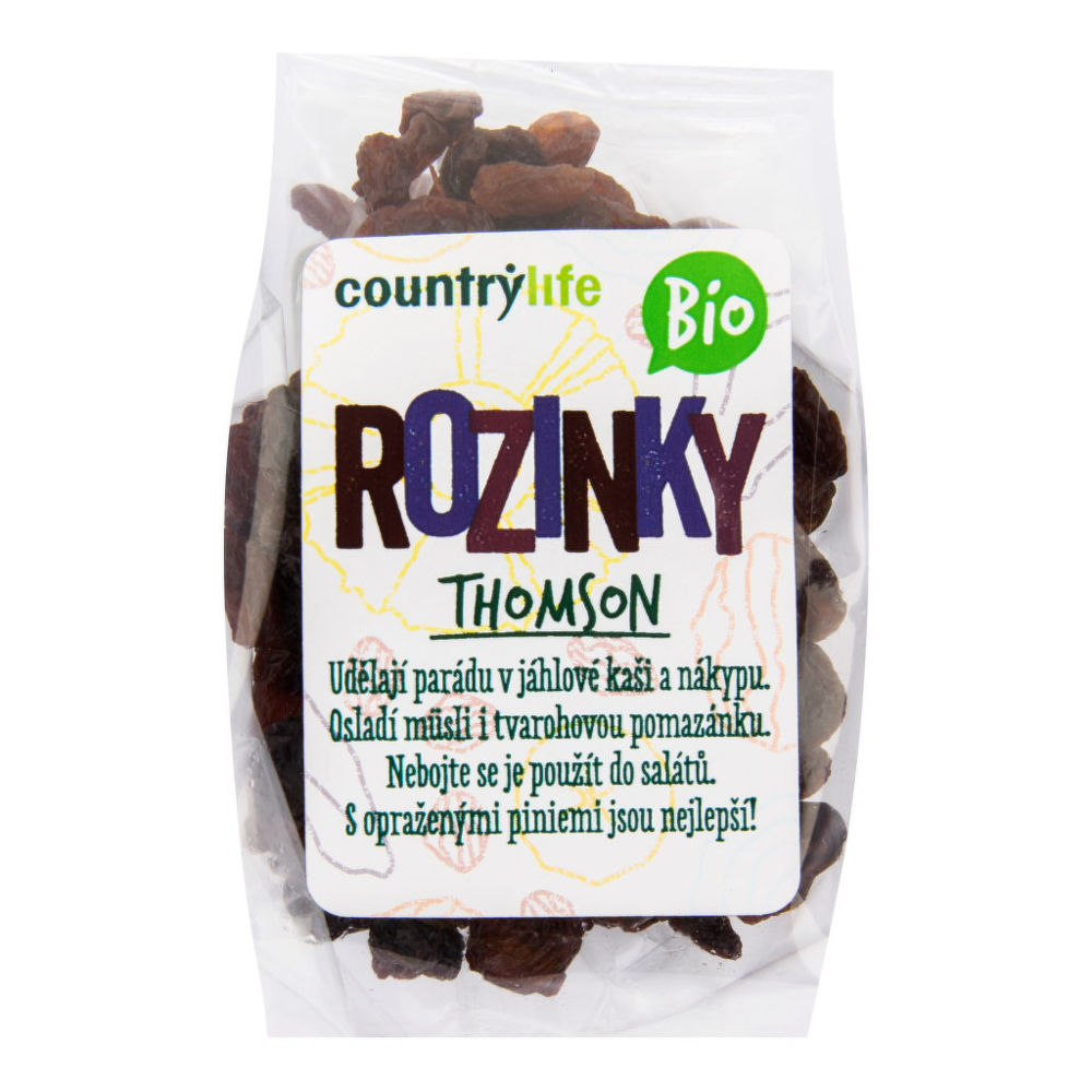 Country Life Rozinky Thomson 100 g BIO COUNTRY LIFE 100 g
