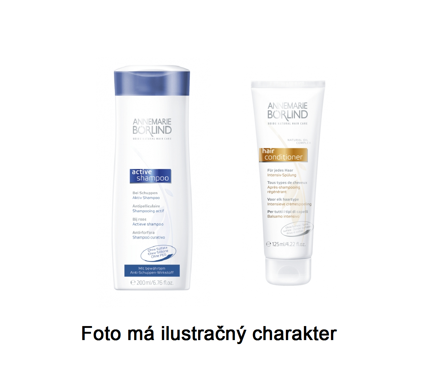 Annemarie Börlind Šampon proti lupům + vlasový kondicionér - VZOREK 2 x 8 ml