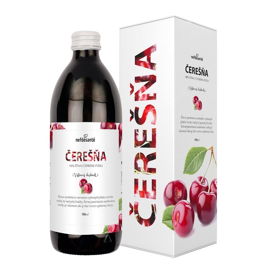 TŘEŠEŇ (100% šťáva z třešně ptačí s přídavkem vitamínu C 500 ml)
