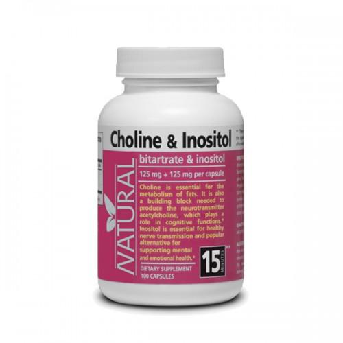 Natural Cholin a Inositol 125 mg + 125 mg, 100 kapslí 80.7 g / 100kapsúl