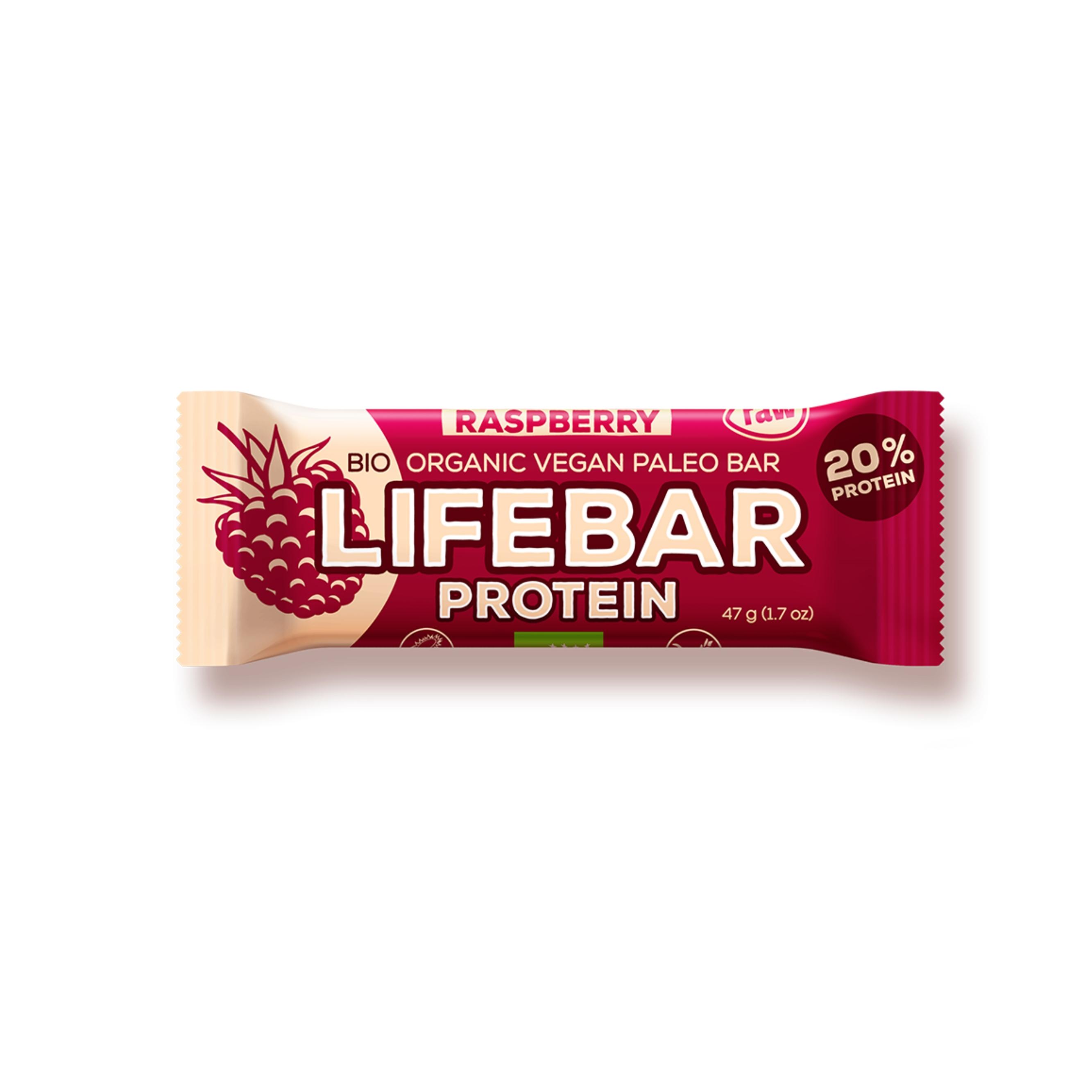 2de61f27f5de Lifebar protein malinová BIO 47 g Lifefood   - BIO a přírodní ...