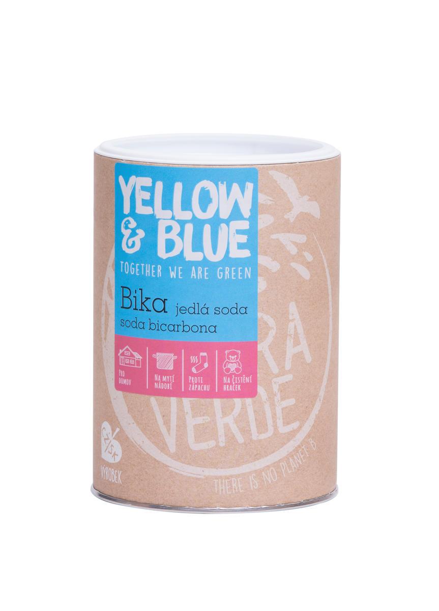 Yellow & Blue Bika - jedlá soda, soda bicarbona, hydrogenuhličitan sodný 1 kg (doza) 1 kg