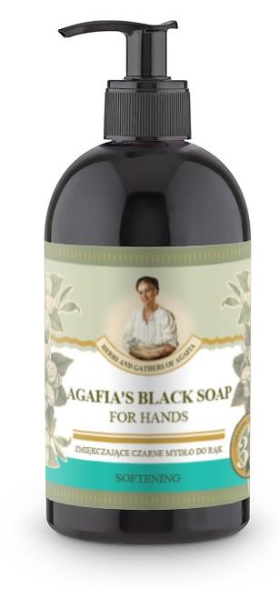 Recipes of Babushka Agafia Agafja zjemňující černé mýdlo na ruce 500 ml