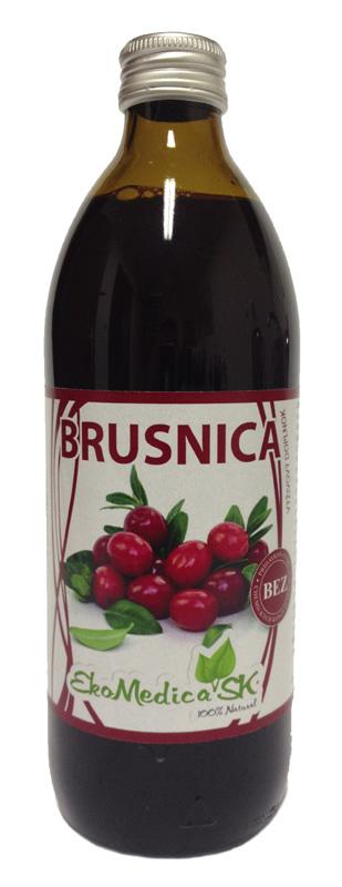 EkoMedica Šťáva Brusinka 100% - 1 L 1000 ml