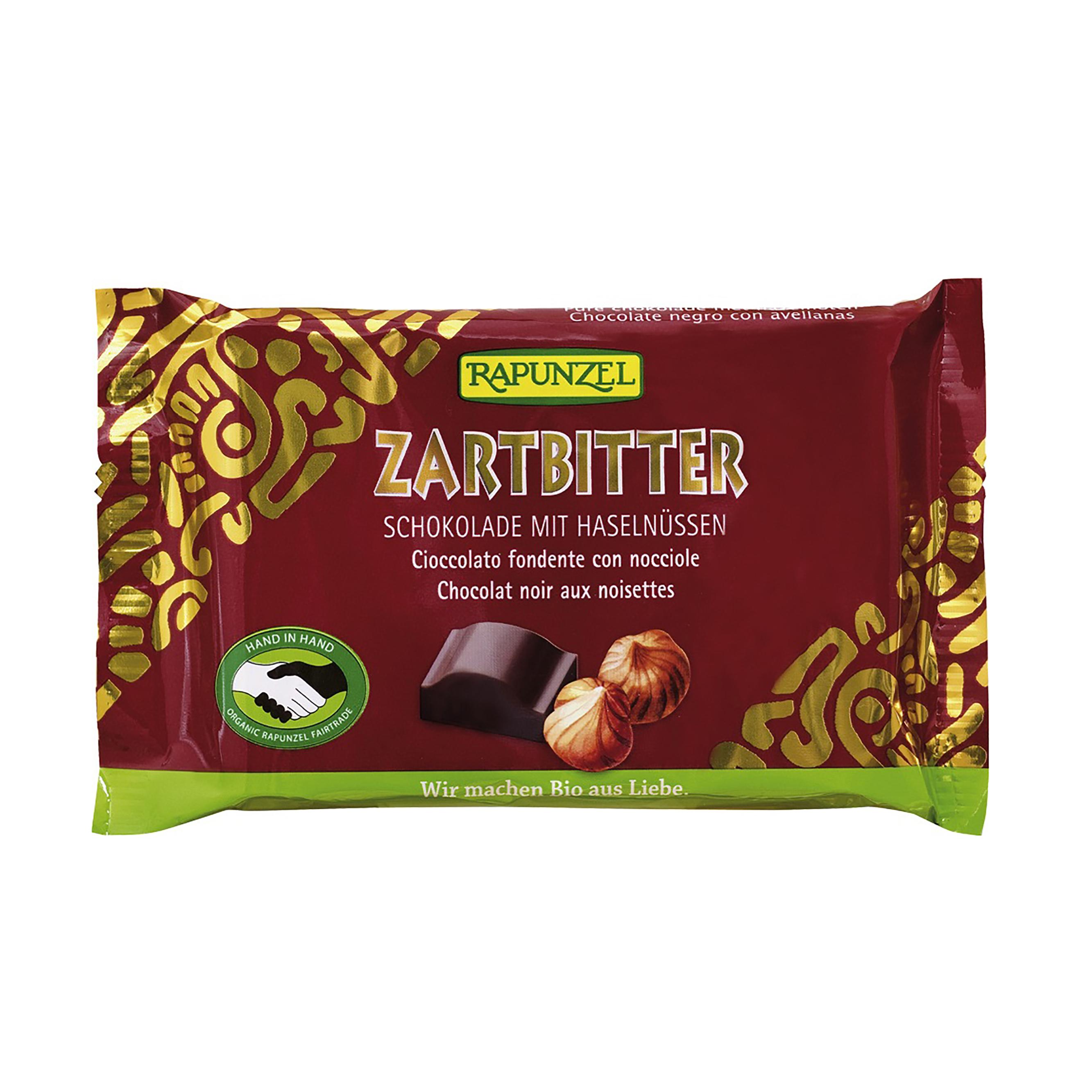 Rapunzel Horká čokoláda s lískovými oříšky BIO 100 g Rapunzel * 100g