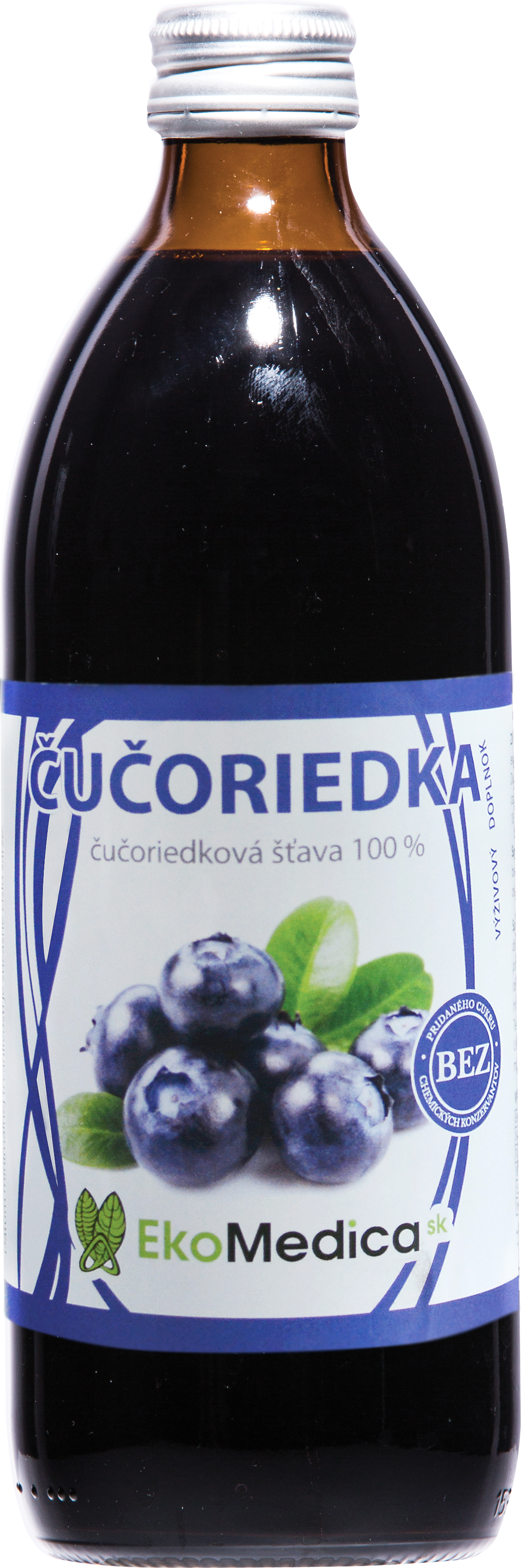 EkoMedica Šťáva Borůvka 100% - 500 ml 500 ml