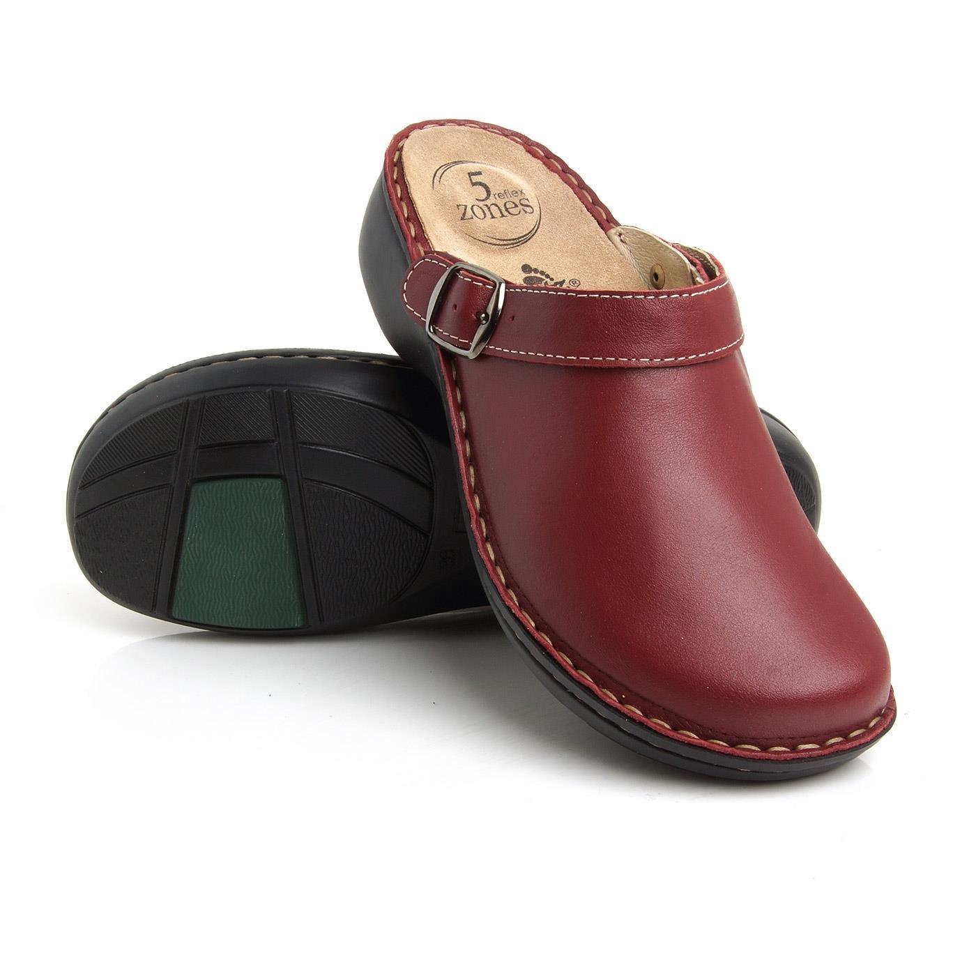Batz dámské zdravotní pantofle Mira Dark red 37