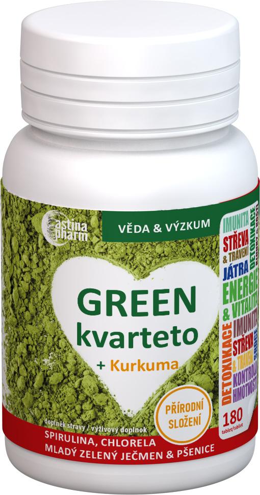 Astina GREEN kvarteto + Kurkuma tbl 1x180 ks