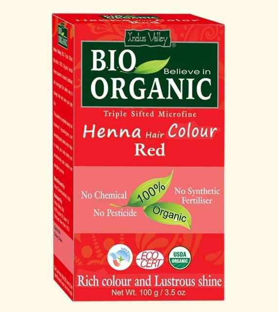 Indus Valley Henna barva na vlasy Červená 100 g