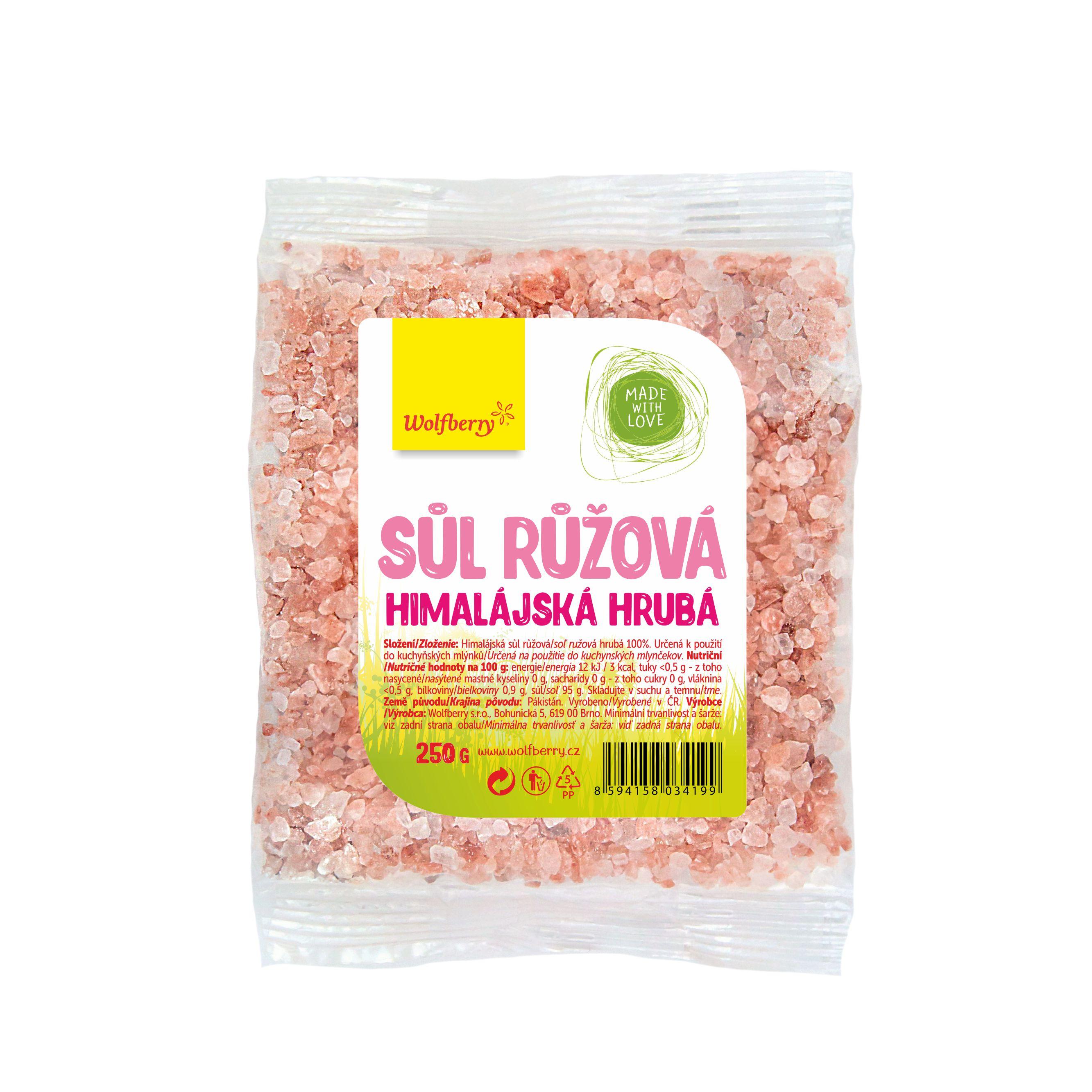 Wolfberry Himalájská sůl růžová hrubá 250 g Wolfberry 250 g