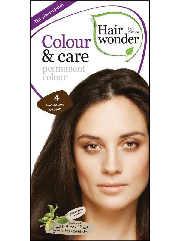 Levně Hairwonder Dlouhotrvající barva STŘEDNĚ HNĚDÁ 4 100 ml 100 ml