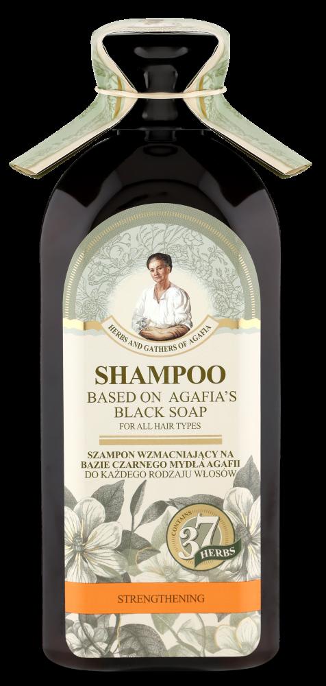 Recipes of Babushka Agafia Posilující šampon na bázi černého mýdla Agafja - pro všechny typy vlasů 350 ml
