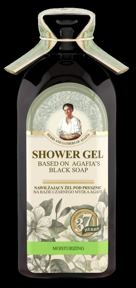 Recipes of Babushka Agafia Agafja hydratační sprchový gel na bázi černého mýdla 350 ml