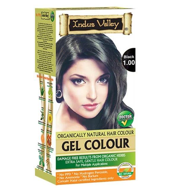 Gelová barva na vlasy Černá 1.0