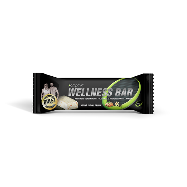 Wellness bar 60 g vanilka-mandle