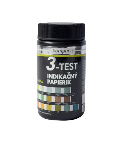 Lakmusové papírky 3v1 3-Test 50 ks / 1 tuba