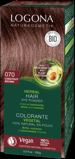 Logona Logona barva na vlasy kaštanová - 100g 100 g