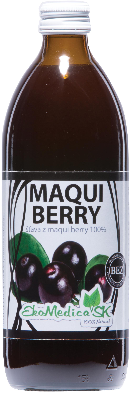 EkoMedica Šťáva Maqui berry 100% - 500 ml 500 ml