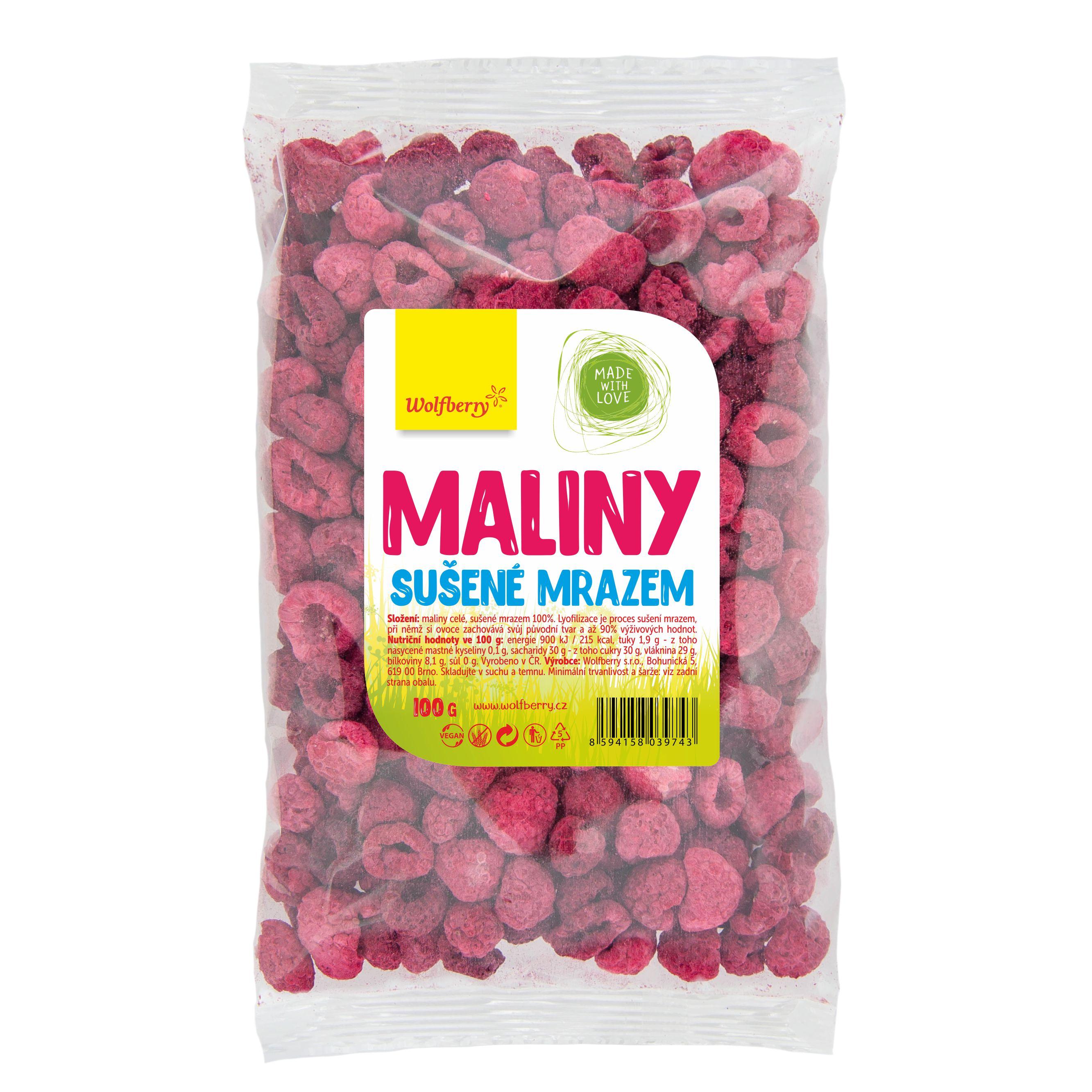 Wolfberry WF Maliny lyofilizované 100 g Wolfberry 100 g