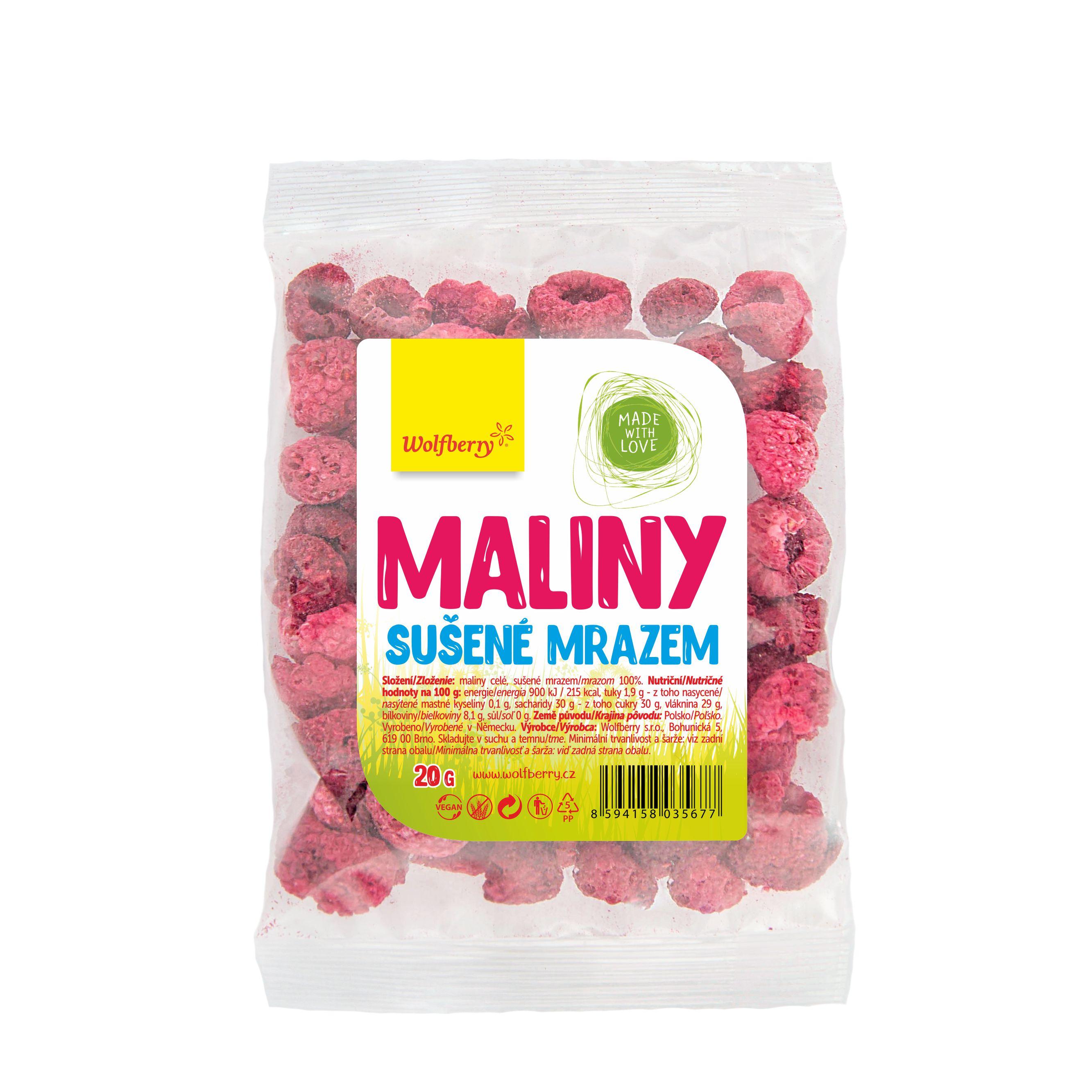 Wolfberry Maliny lyofilizované 20 g Wolfberry 20g