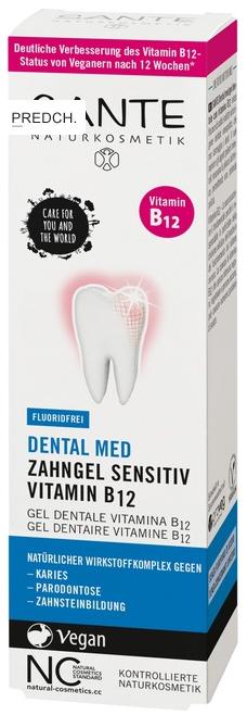 Zubní gel s vitamínem B12 bez fluoridu