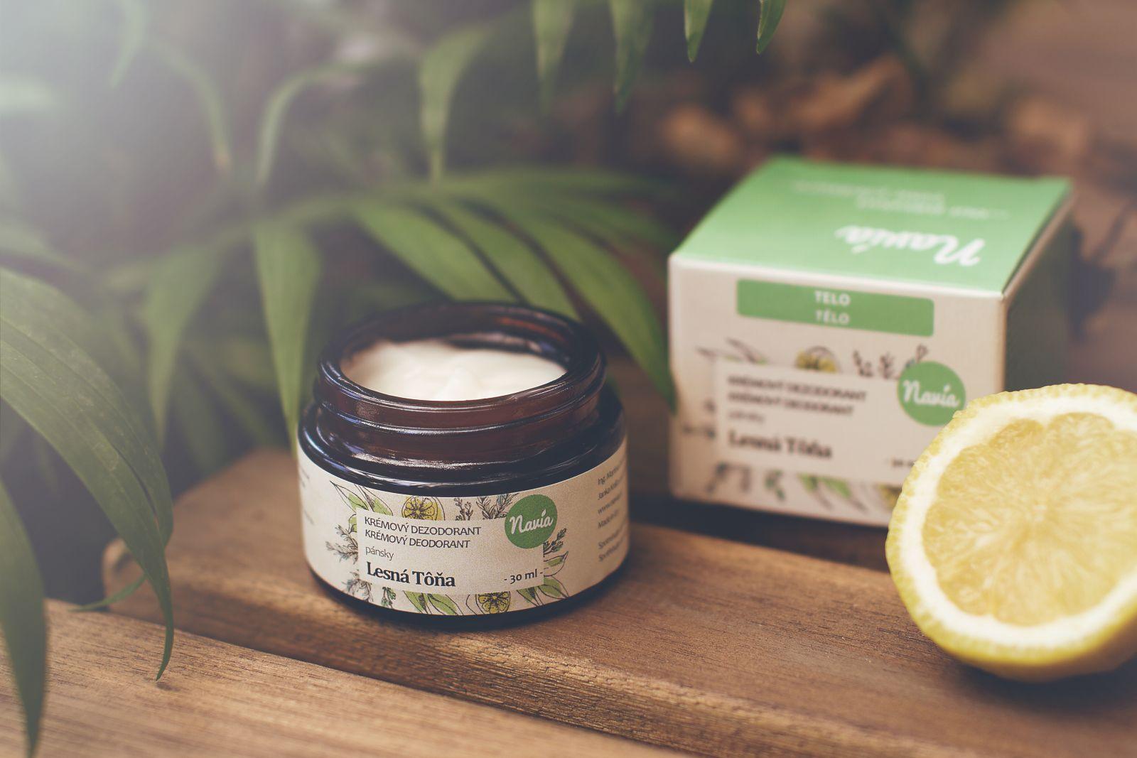 Jemný Krémový Deodorant Pánský - Lesní Tona