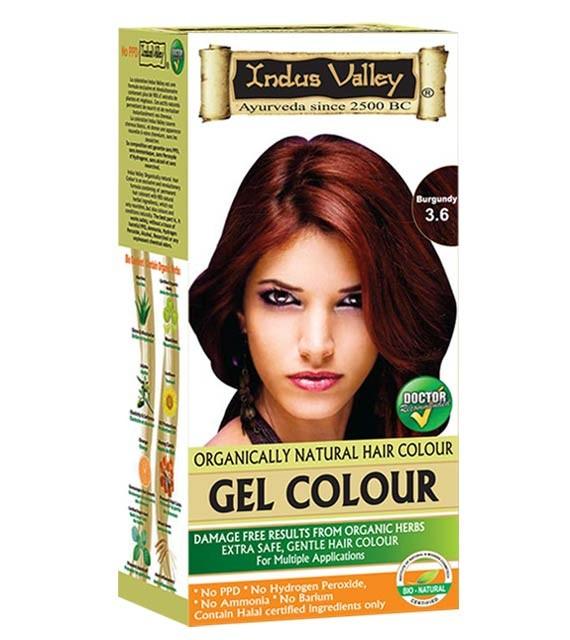 Gelová barva na vlasy Burgundská 3.6
