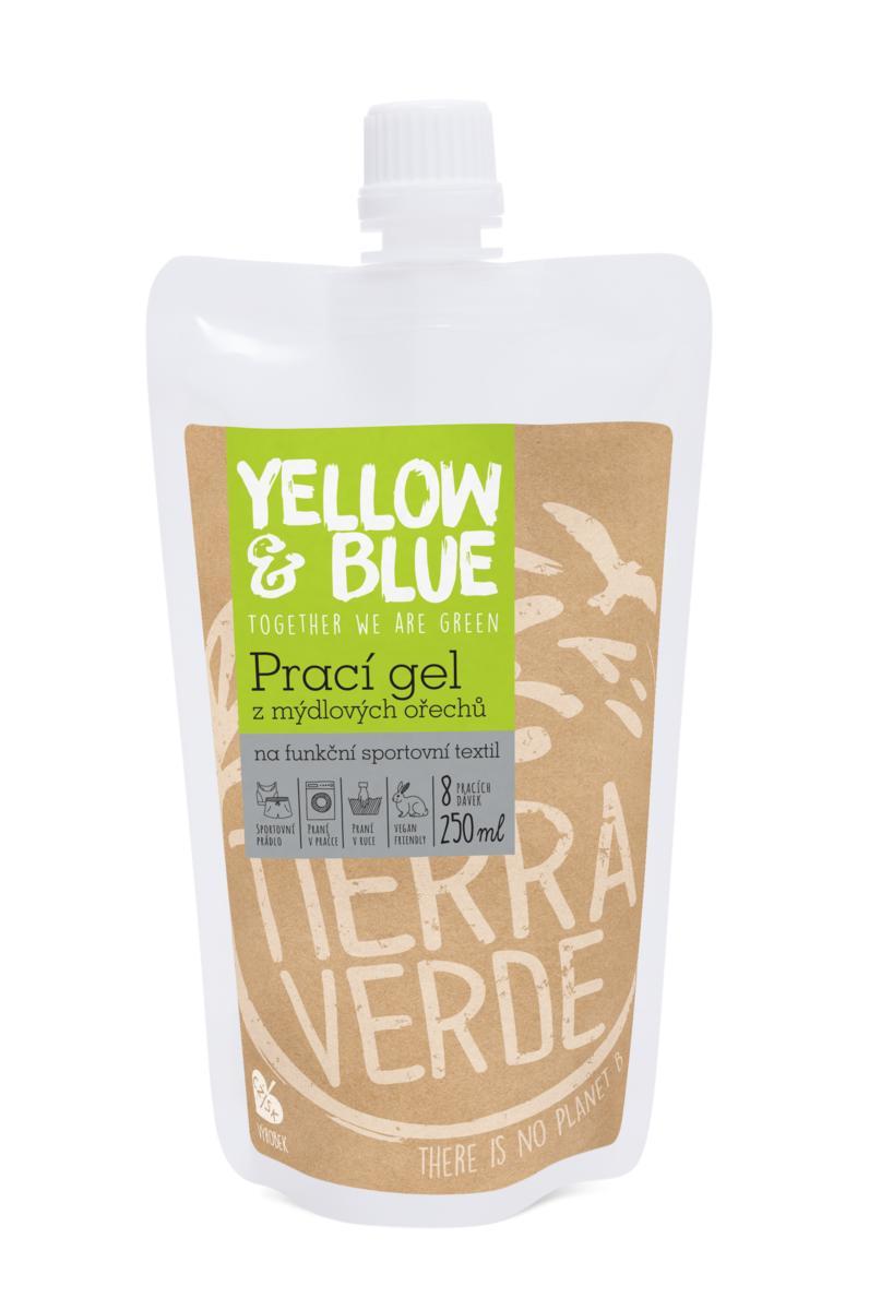 Prací gel z mýdlových ořechů na sportovní funkční textil s koloidním stříbrem 250 ml (kapsa uzávěr)