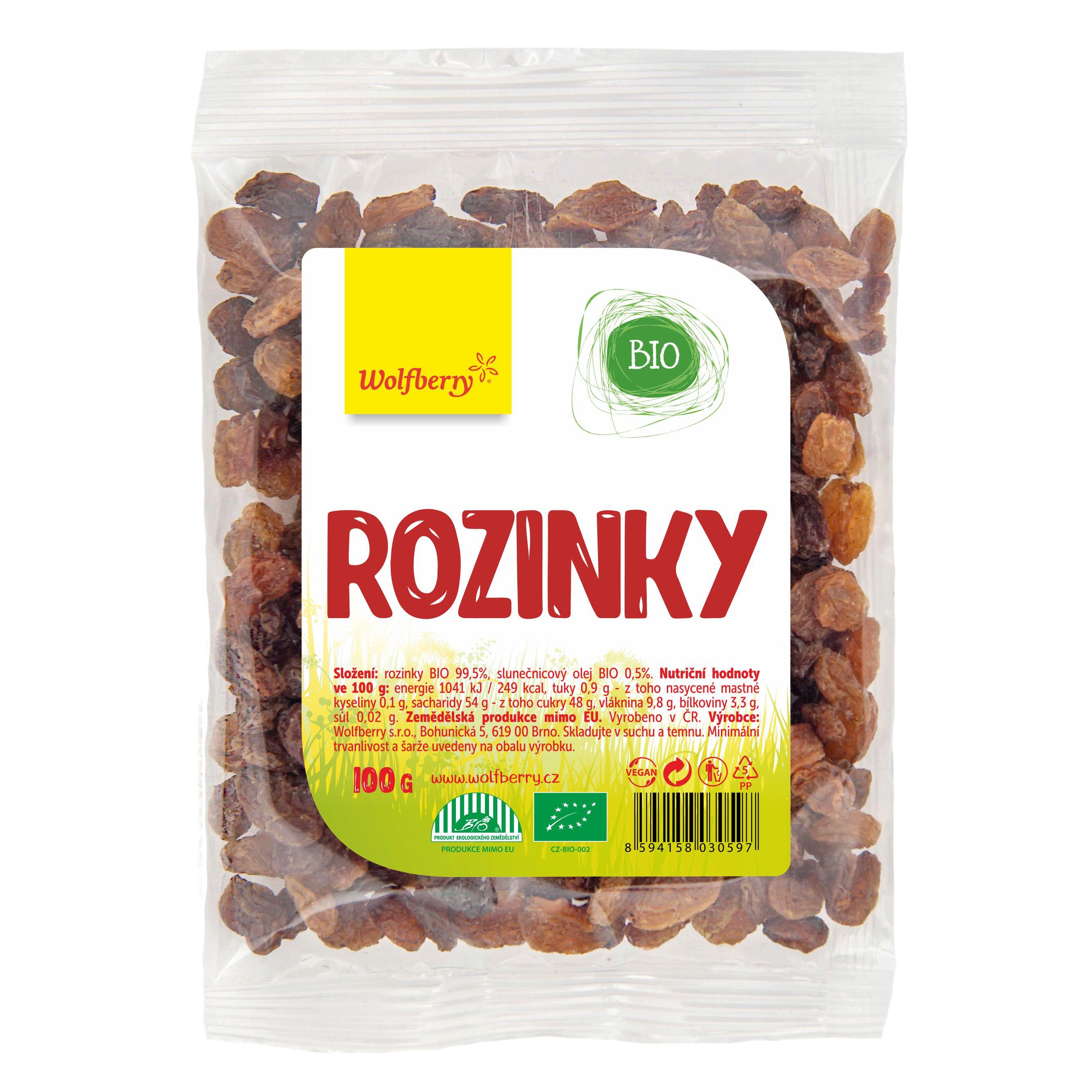 Wolfberry WF Rozinky BIO 100 g Wolfberry * 100 g