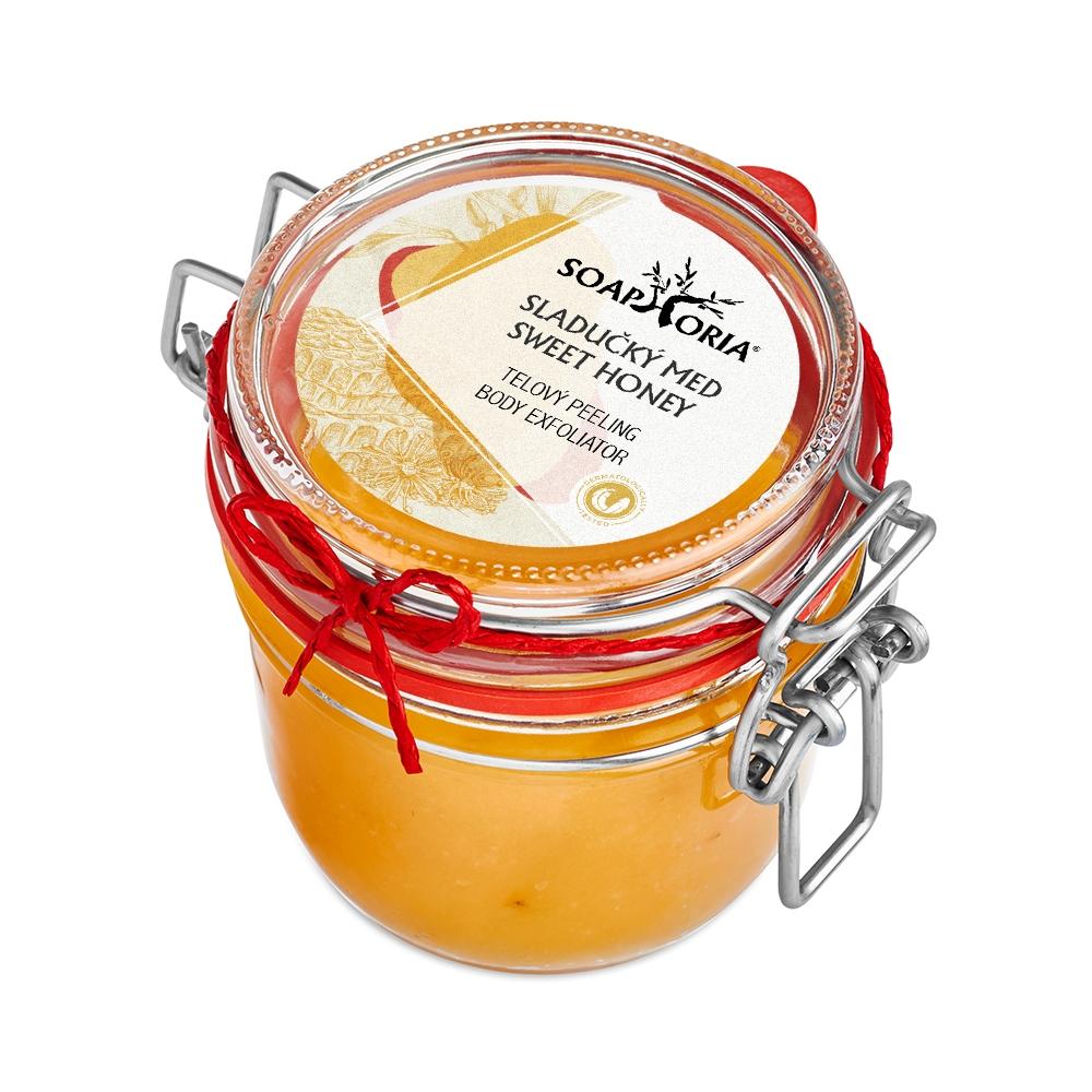 Slaďoučký med - organický solný tělový peeling