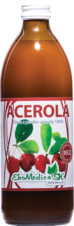 EkoMedica Šťáva Acerola 100% - 500 ml 500 ml