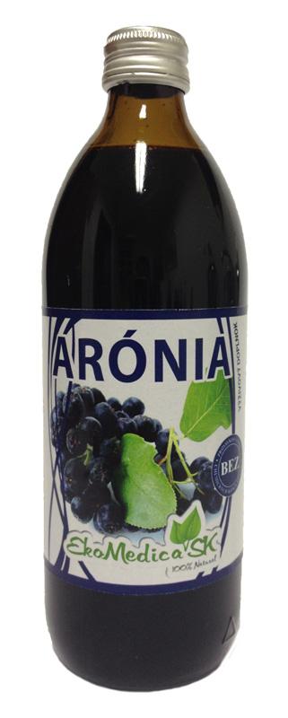 EkoMedica Šťáva Aronie 100% - 500 ml 500 ml