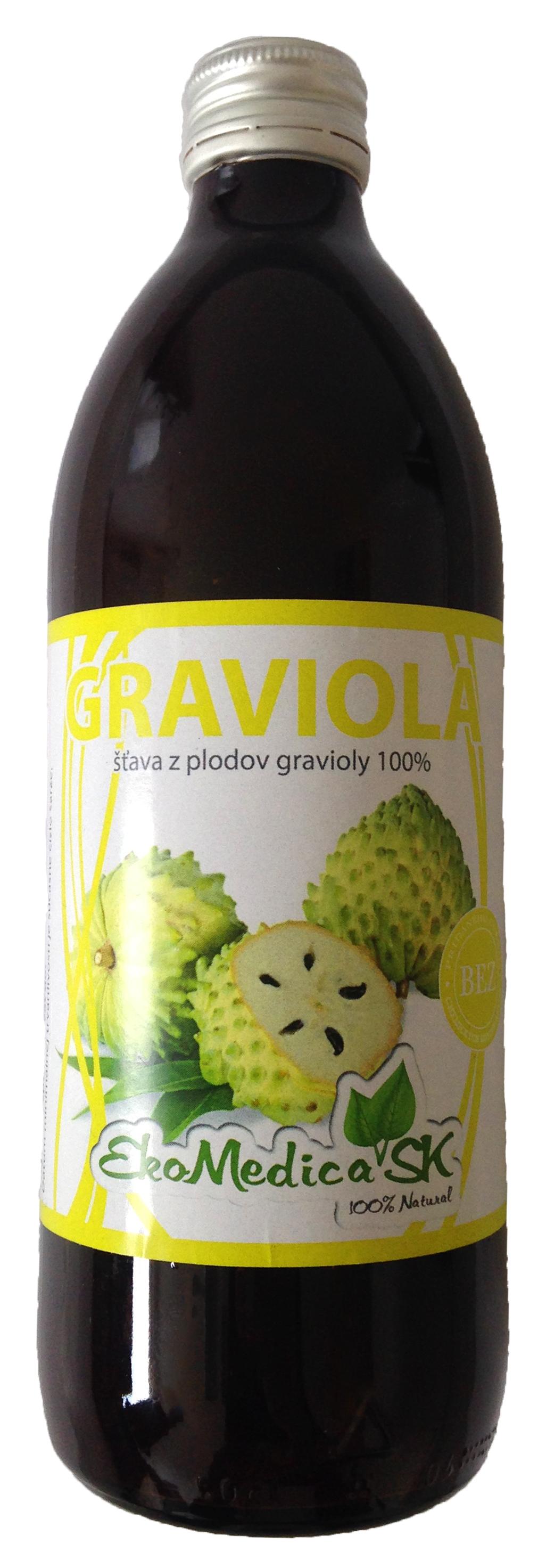 EkoMedica Šťáva Graviola 100% - 500 ml 500 ml