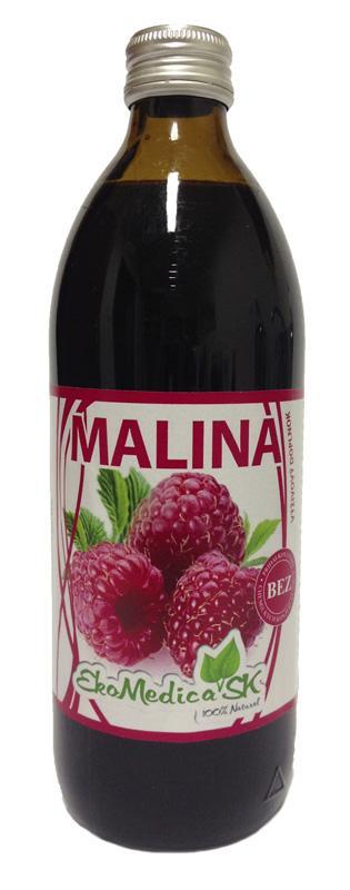 EkoMedica Šťáva Malina 100% - 500 ml 500 ml
